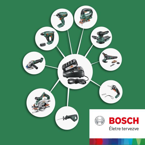 Többféle eszköz, egyetlen akku: Bosch